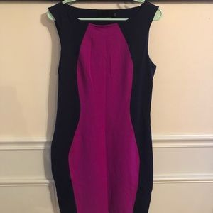 Navy blue and Pink dress